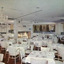 Image of Jack Kilty's Restaurant Postcard - This item is a postcard from Jack Kilty's Restaurant located at 4545 West 95th Street. The front shows an interior image of the restaurant while the back contains promotional information.