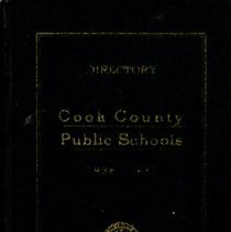 Image of Cook County School Directory, 1936-1937 - Directory of the public schools of Cook County, Illinois.  Contains information on schools and staff, including names and addresses of teachers and administrators for the school year 1936-37.  Oak Lawn (Cook) School and District 122 (Simmons) School are mentioned, along with Principals Carl A. Sward and Wiley Simmons.