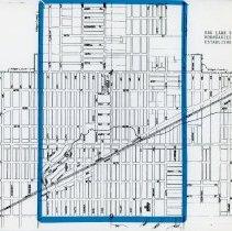 Image of 1909 Map of Oak Lawn's Boundaries