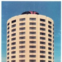 Image of Hilton Inn of Oak Lawn Postcard - This item is a postcard from the Hilton Inn of Oak Lawn located on Cicero Avenue near 94th Street.  The front includes a picture of the hotel while the back has contact information.