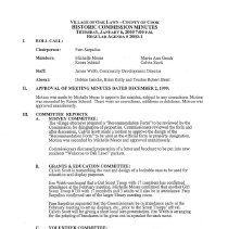 Image of Village of Oak Lawn Oak Lawn Historic Commission Minutes, 2000 - Minutes of the Oak Lawn Historic Commission for the year 2000.