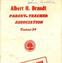 Image of Albert H. Brandt School Parent-Teacher Association Program-Year Book, 1970-1971 - Program/yearbook of the Brandt Elementary School PTA for the school year 1970-71.  Includes names and addresses of officers and committee chairmen, names of teachers, a program schedule, and information regarding scout leaders.