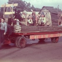 Image of Mill and Luber Company's float in the Round-Up Parade.         