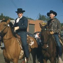 Image of Cowboys Participating in the Round-Up Parade.