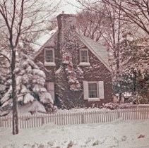 Image of Side View of the Eldridge Residence during Christmas - Side view of the Eldridge residence during Christmas.  The home is located at 9646 50th Court in Oak Lawn.
