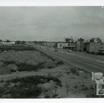 Image of View of 95th Street Looking East - Photograph of 95th Street looking east from the top of the Rotunda Medical Building (4340 W. 95th Street) in 1962.