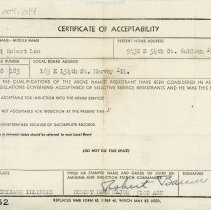 Image of Certificate of Acceptability