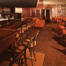 Image of Banana's Steak House Postcard - This item is a postcard from Banana's Steak House located at 9401 South Cicero Avenue in Oak Lawn.  The front features an image of the restaurant's interior while the back contains various information.