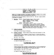 Image of Village of Oak Lawn Board of Trustees Minutes, 1979 - Minutes of the Oak Lawn Board of Trustees for the year 1979.