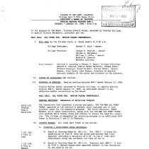 Image of Village of Oak Lawn Board of Trustees Minutes, 1988 - Minutes of the Oak Lawn Board of Trustees for the year 1988.