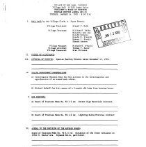 Image of Village of Oak Lawn Board of Trustees Minutes, 1992 - Minutes of the Oak Lawn Board of Trustees for the year 1992.