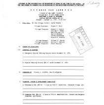 Image of Village of Oak Lawn Board of Trustees Minutes, 1993 - Minutes of the Oak Lawn Board of Trustees for the year 1993.