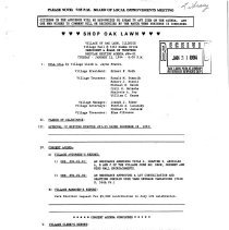 Image of Village of Oak Lawn Board of Trustees Minutes, 1994 - Minutes of the Oak Lawn Board of Trustees for the year 1994.