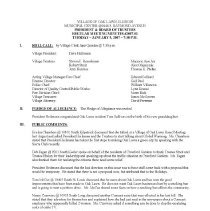 Image of Village of Oak Lawn Board of Trustees Minutes, 2007 - Minutes of the Oak Lawn Board of Trustees for the year 2007.