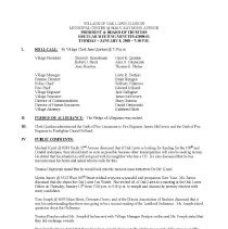 Image of Village of Oak Lawn Board of Trustees Minutes, 2008 - Minutes of the Oak Lawn Board of Trustees for the year 2008.