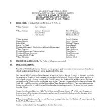 Image of Village of Oak Lawn Board of Trustees Minutes, 2009 - Minutes of the Oak Lawn Board of Trustees for the year 2009.