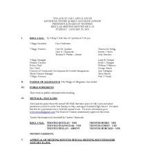 Image of Village of Oak Lawn Board of Trustees Minutes, 2011 - Minutes of the Oak Lawn Board of Trustees for the year 2011.