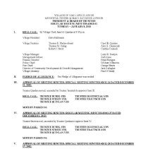 Image of Village of Oak Lawn Board of Trustees Minutes, 2013 - Minutes of the Oak Lawn Board of Trustees for the year 2013.