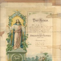 Image of Otto Brandt Baptismal Certificate
