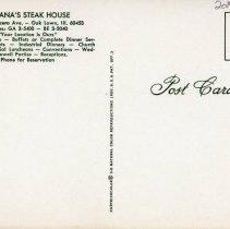 Image of Banana's Steak House Postcard