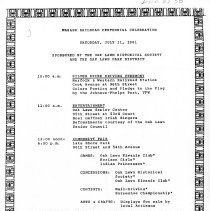 Image of Wabash Railroad Centennial Celebration, July 11, 1981 - Flier advertising the Wabash Railroad Centennial Celebration sponsored by the Oak Lawn Historical Society and the Oak Lawn Park District.  This event commemorated the building of the Wabash rail line through Oak Lawn.