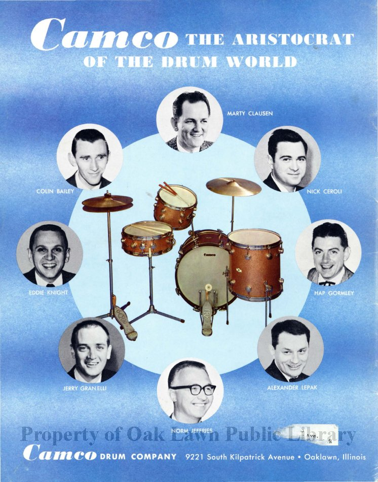 Camco Drum Company Catalog Sales Catalog Of The Camco Drum Company The Business Had Two Different Oak Lawn Addresses At 9221 South Kilpatrick Avenue And 9536 South Tulley Avenue Includes The