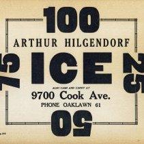 Image of Arthur Hilgendorf Ice Sign