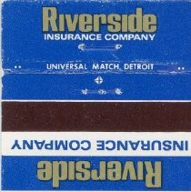"Image of Buschbach Insurance Agency Matchbook - This item is a matchbook for the Buschbach Insurance agency located at 5615 West 95th Street in Oak Lawn.  The inside contains a advertisement that states ""Your independent insurance agent serves you best.  See him for automobile, homeowners, boat, travel and trailer insurance""."