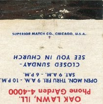 Image of Haggerty-Loftus Ford Matchbook - This item is a matchbook for Haggerty-Loftus Ford located at 5600 West 95th Street in Oak Lawn. It is red, blue, and white in color and features a small logo.