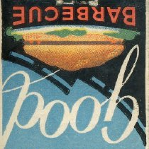 Image of Vic's Restaurant Matchbook - This item is a matchbook from Vic's Restaurant located in Oak Lawn.  It has a multi-colored cover advertising different food dishes.