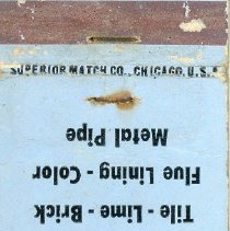Image of William Brandt and Son Matchbook - This item is a matchbook for William Brandt and Son Incorporated located at 9520 South 51st Avenue in Oak Lawn.  The cover is blue in color and advertises various building materials.