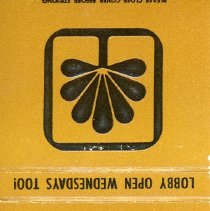 Image of First National Bank Matchbook - This item is a matchbook for the First National Bank of Oak Lawn located at 9430 South Cicero Avenue.  The cover is brown and black with the image of a tree.
