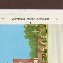 Image of Edmunds Restaurant Matchbook - This item is a matchbook for Edmunds Restaurant located at 6250 West 95th Street.  It is white and blue in color and features an image of the restaurant.
