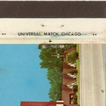 Image of Edmund's Banquets Restaurant Matchbook - This item is a matchbook from Edmund's Banquets Restaurant located at 6250 West 95th Street in Oak Lawn. The cover is multi-colored with an image of the restaurant featured.