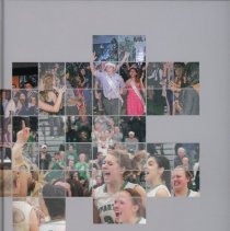 Image of Shield, 2014 - This item is an Oak Lawn Community High School yearbook from 2014.  The cover is gray with a number of small images.