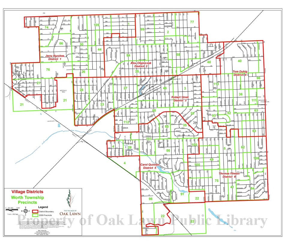 2009 Oak Lawn Village Trustee District Map This item is a