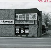 Image of 5100 West Block of 95th Street - This is a photograph of the 5100 block of 95th street focusing on the north side.  Aberdeen's Wedding Flowers and Currency Exchange were located at 5112 west 95th street.