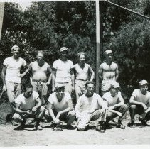 Image of World War II Photograph - This is a photograph taken in the Pacific Theater during the Second World War. It features a group of soldiers playing baseball, and may have been snapped in the Philippine Islands.