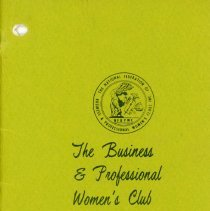Image of Business and Professional Women's Club of Oak Lawn Directory, 1969-1970 - Membership directory of the Business and Professional Women's Club of Oak Lawn for the year 1969-70.  Lists officers, committee chairwomen, objectives, planned programs, and the name, address, and telephone number of each member.