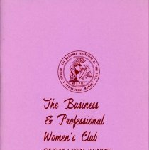 Image of Business and Professional Women's Club of Oak Lawn Directory, 1972-1973 - Membership directory of the Business and Professional Women's Club of Oak Lawn for the year 1972-73.  Lists officers, committee chairwomen, objectives, planned programs, and the name, address, and telephone number of each member.