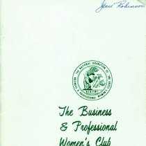 Image of Business and Professional Women's Club of Oak Lawn Directory, 1973-1974 - Membership directory of the Business and Professional Women's Club of Oak Lawn for the year 1973-74.  Lists officers, committee chairwomen, objectives, planned programs, and the name, address, and telephone number of each member.