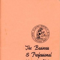 Image of Business and Professional Women's Club of Oak Lawn Directory, 1974-1975 - Membership directory of the Business and Professional Women's Club of Oak Lawn for the year 1974-75.  Lists officers, committee chairwomen, objectives, planned programs, and the name, address, and telephone number of each member.