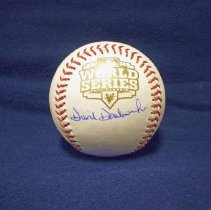 Image of Dave Dombrowski Baseball - This item is a baseball signed by Dave Dombrowski, the former General Manager of the Detroit Tigers and now President of the Boston Red Sox.  Dave is a graduate of Harold L. Richards High School and helped take the Tigers to the 2012 World Series.