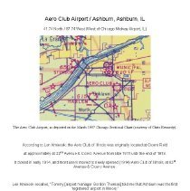 Image of Aero Club Airport / Ashburn, Ashburn, IL - History of the Aero Club of Illinois, located at 22nd Street & Cicero Avenue, and later at 83rd Street and Cicero Avenue.  The name was changed to Ashburn Airport in 1940.  It closed around 1953.