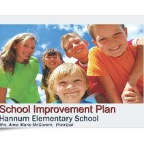 Image of 2010, Hannum Elementary School Improvement Plan - School improvement plan developed for the Hannum Elementary School.  Includes the School Report Card, along with a detailed analysis, an action plan to meet the various goals and objectives, and an evaluation process.  The school is located at 9800 South Tripp Avenue.