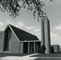 Image of Southwest Christian Missionary Alliance - This is a photograph of Southwest Christian Missionary Alliance formerly located at 9535 South Kildare Avenue. This image shows a front view of the church.