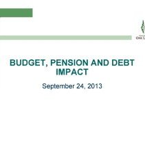 Image of Village of Oak Lawn Budget, Pension and Debt Impact, September 24,2013 - A study prepared for the Board of Trustees of the Village of Oak Lawn which examines the financial health of the village.  Includes numerous charts, graphs, statistics, projections and recommendations.