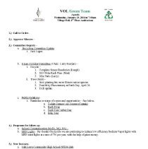 Image of Village of Oak Lawn Green Team Minutes. 2014 - Village of Oak Lawn Green Team Minutes for the year 2014.