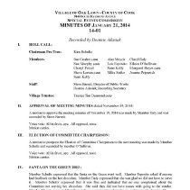 Image of Village of Oak Lawn Special Events Commission Minutes, 2014 - Village of Oak Lawn Special Events Commission Minutes for the year 2014.