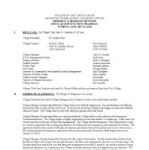 Image of Village of Oak Lawn Board of Trustees Minutes, 2014 - Village of Oak Lawn Board of Trustees Minutes for the year 2014.